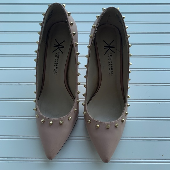 Kardashian Kollection Shoes - Kardashian kollection heels nude  size 8.5